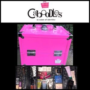 Caboodles Hot Pink Train Case WITH Ipsy makeup